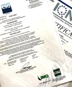 Certificazioni Cazzani