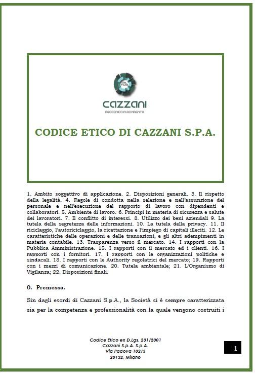 Codice etico Cazzani